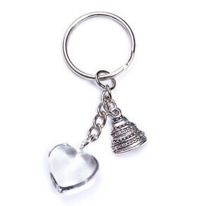 Wedding Key chain Heart Love & Cake Charm Celebrate Thank You Favors Decoration