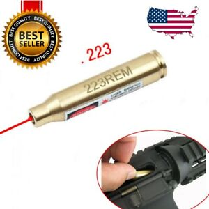 CAL 223REM Red Dot Laser Boresighter Sight Cartridge Brass Bore Bullet Shaped