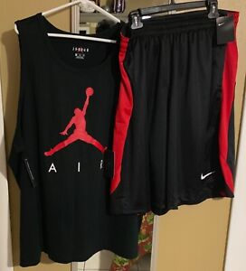 BNWT Men Air Jordan TSHIRT&BASKETBALL SHORTS DRI FIT OUTFIT BOTH SZ 3XL  🔥🔥