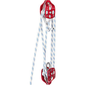Twin Sheave Block and Tackle 7700Lb Pulley System 1 2quot; 150ft Rigging Rope