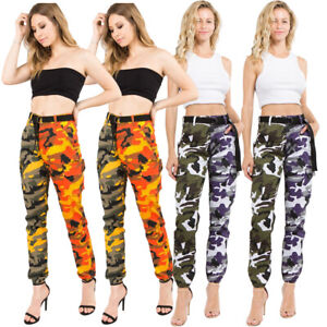 Fashion Women's Slim Two-color Camouflage Stitching Pants For Everyday Wear New