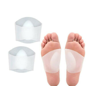1 Pair Arch Support Soft Silicone Gel Sleeves for Flat Foot & Plantar Fasciitis
