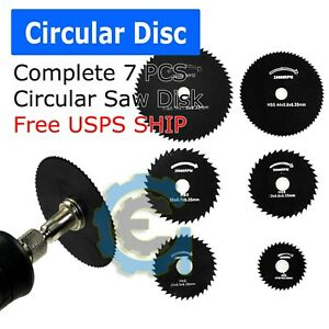 Circular Saw Disc Set Dremel-Accessory Mini Drill Rotary Tool Wood Cutting Blade