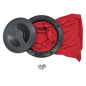 6 Inch Marine Boat Kayak Hatch Cover Deck Plate Kit Red Storage Bag With Screws