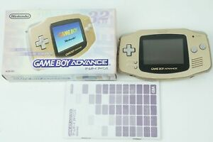 Nintendo Gameboy Advance Gold Console GBA Box From Japan