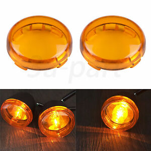 Turn Signal Light Amber Lens Covers Fit For Harley Electra Glide Sportster