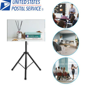 Tripod TV Display Floor Stand Height Adjustable Mount for 26