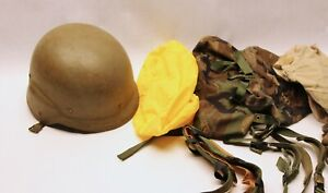 US ARMY ISSUE PASGT KEVLAR HELMET WITH ACCESSORIES STAMPED L2