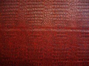 Redblack  gator upholstery Faux vinyl bags pillow auto commercial ROLLED