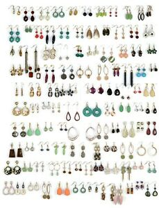 Wholesale Lot of 20 Pairs of Statement Earrings Dangling New