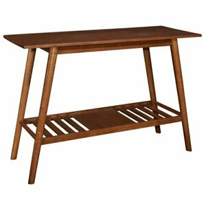 Riverbay Furniture Console Table in Warm Brown