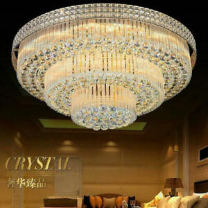 3 Layers K9 Crystal Chandeliers Remote Control LED Pendant Ceiling Light Decor