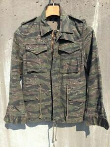 green Camouflage Ladies Tops Jacket M65 Stripe Casual Fashion Cute Cool
