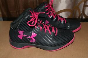 Under Armour Hi-Top Basketball Shoes Women's Sz 11M Very Good Condition!