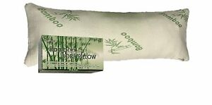 Full Body Bamboo Pillow Shredded Memory Foam With Removable Cover with Zipper