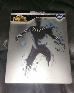BLACK PANTHER 4K Ultra HD + BLURAY STEELBOOK Best Buy *NO DIGITAL*