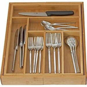 Expandable Use Utensil Flatware Dividers-Kitchen Drawer Organizer-Cutlery Holder