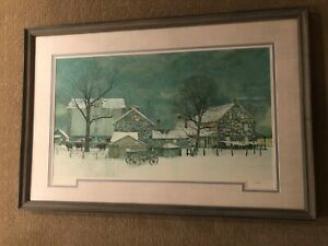 Peter Sculthorpe Heartland Lithograph hand numbered and signed 137350.