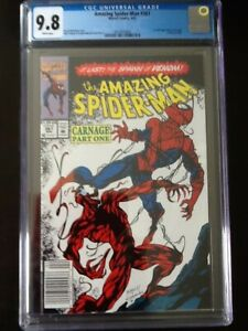 The Amazing Spider-Man #361 Newsstand (UPC) CGC 9.8 White Pages!