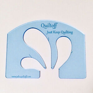 """machine quilting ruler Feather Thick 1 4"""". Fluorescent Blue $20.00"""