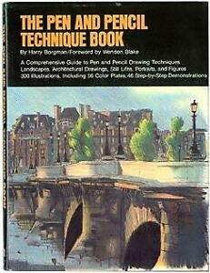 Pen and Pencil Technique Book by Borgman Harry-ExLibrary