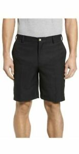 Peter Millar Crown Sport Flat Front Golf Shorts Black.Men's 42