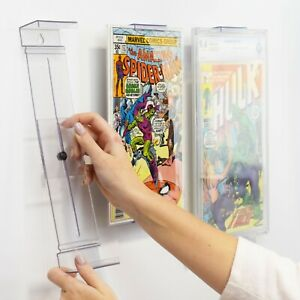 ComicMount™ Invisible Comic Book Display Shelf Stand and Wall Mount