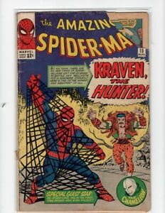 The Amazing Spider-Man #15 (GD) 1st Kraven-Marvel 1964-Sinister Six-SA Key