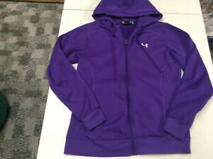 UNDER ARMOUR PURPLE ZIP HOODIE WOMENS SMALL SEMI FITTED EUC $18.70