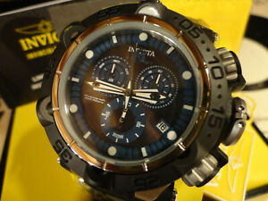 Invicta 27688 50mm Black Subaqua Noma V Swiss Chrono Silicone Strap Watch NEW!
