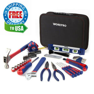 WORKPRO Kitchen Drawer Tool Kit 100-Piece with Easy Pouch