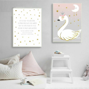 Kids Canvas Posters For Bedroom Home Art Decorative Display Art Paintings Nordic
