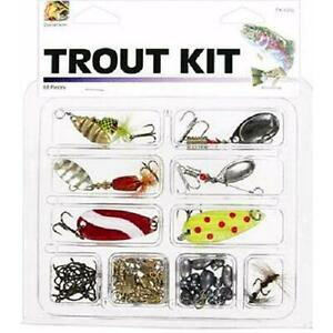 68-Piece Danielson Trout Kit with Lures and Tackle for Fishing Saltwater