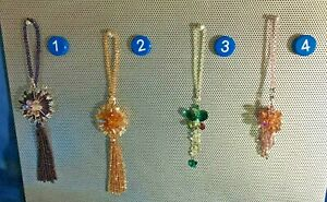 Handmade Crystal Sun Catcher Hanging Ornament for Car Rear View Mirror