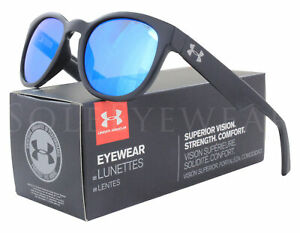 New Under Armour Roll Out Satin Black Gray Blue Sunglasses