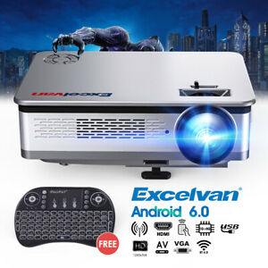 Excelvan HT60 Home Projector 1080P Home Cinema Theater Video Games 6400Lumens