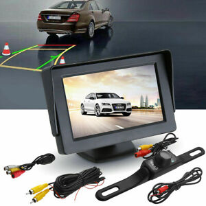Car Back up Rear View Parking System Night Vision Camera +4.3