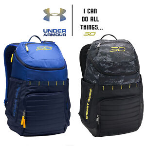 SC30 Undeniable Backpack Under Armour Black Stephen Curry UA Warriors Blue Navy $74.97