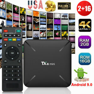 TX6 Mini Smart TV Box Android 9.0 Quad Core 2+16G HD 2.4GHz WiFi 4K Media Player