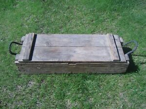 Vintage 1968? U.S. Military CANNON MORTAR Wooden CrateBox AMMO M2 M30 42 INCH