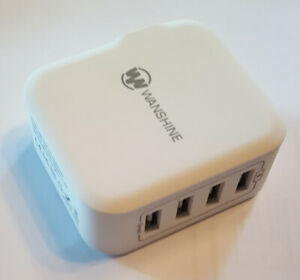 Wanshine 4 Port USB Wall Charger Ultra-Fast 31w6.2a Charge 4 Devices At Once!