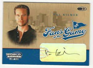 Val Kilmer 2004 Donruss World Series Fans of the Game Autograph Card Dodgers