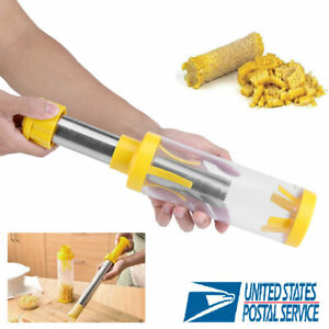 Kitchen Corn Cob Stripper Cutter Peeler No Mess Stainless Steel Blade Deluxe Hot