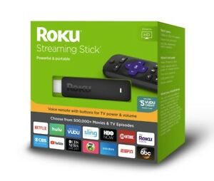 NEW ROKU STREAMING STICK POWERFUL & PORTABLE VOICE REMOTE INSIDE 3800RT SEALED