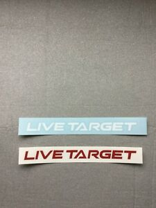 """Live Target Fishing Lures 8"""" Vinyl Decal Choose Color"""