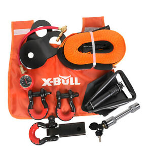 X-BULL 11PCS Winch Recovery Accessory Snatch Pulley Block Bow Shackles 4WD Kit