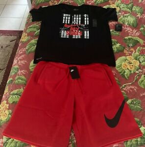 BNWT MENS NIKE DRI FIT BASKETBALL SHORTS & T-SHIRT XL OUTFIT