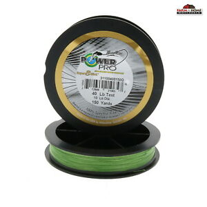2 Power Pro Braided Fishing Line 40lb Test 150yds Green New