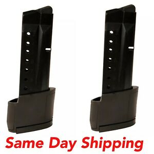 Two ProMags For Smith & Wesson M&P Shield 10 Round Grip Extension 9mm Mag-SMI 28