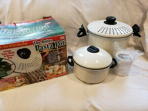 As Seen On TV The Better Pasta Pot 2 Pots And Grater Never Used